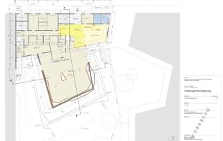 Entwurf Grundriss Erdgeschoss DAV Vereins- und Kletterzentrum (Stand 12/2018)