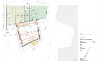 Entwurf Grundriss Obergeschoss DAV Vereins- und Kletterzentrum (Stand 12/2018)