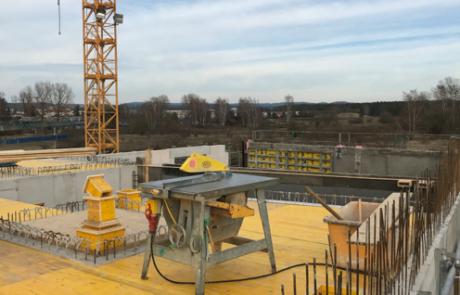 Die Schalung des Daches ohne Bewehrung (Foto: A.Knisch).